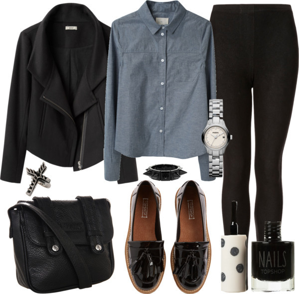 oaf by thepolyvorecollection featuring tassel loafers
