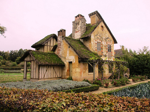lifeissuchabeach:  Marie Antoinette's Hameau ~ Marie Antoinette had a hamlet built in the grounds of Versailles where she could escape to a simple life away from the court…