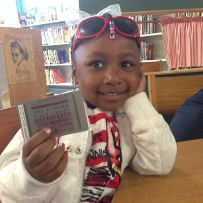 Her first Library card