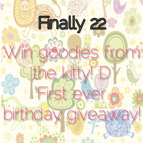My first ever giveaway! It starts tomorrow stay tuned :D Click the photo for more details. Meow :3