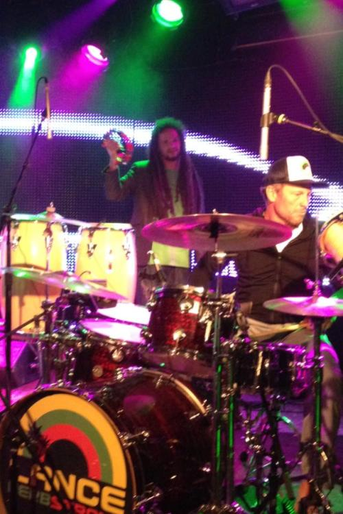 Lance Armstrong was the surprise guest drummer for Lance Herbstrong last night at Belly Up Aspen! Sweet.