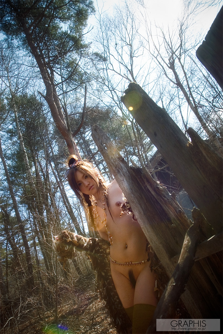 Wild Miyu Sakurai in the forest