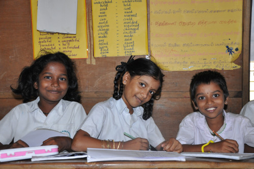 Children are making great strides forward at a primary school supported by ChildFund India in the state of Tamil Nadu. ChildFund India's Enhanced Education Quality Improvement Program (EQuIP), funded by the Caterpillar Foundation, reaches more than 1,000 children in 100 government primary and middle schools in the capital city of Chennai. The program improves school infrastructure, provides essential learning equipment and also focuses on helping children who are slow learners. It's exciting to see the progress.