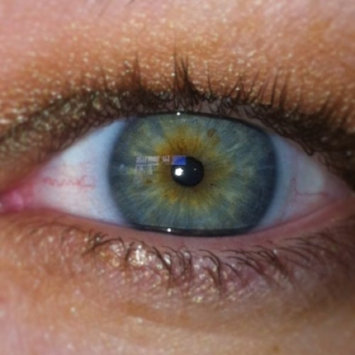My optometrist said I have the most unusual eye color he's seen in his entire career. I'm flattered!!!