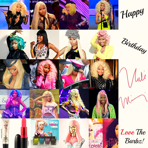allhailnickiminaj:  Happy Birthday Nicki Minaj!