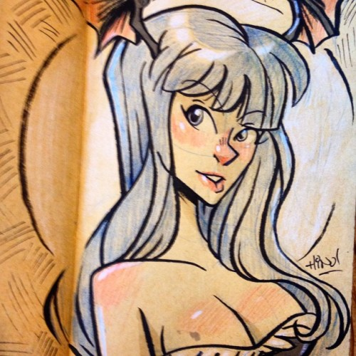 Morrigan for this #inktober thingy