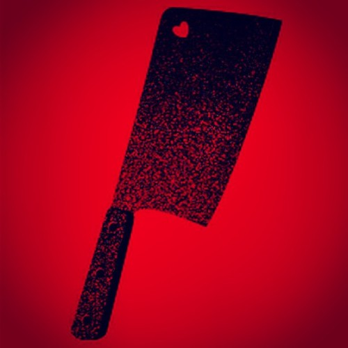 http://www.threadless.com/threadless/the-meat-cleaver-of-love/    #threadless #tee #tshirt #design #art #knife #cleaver #butcher #killer #murder #love #shapes #silhouette