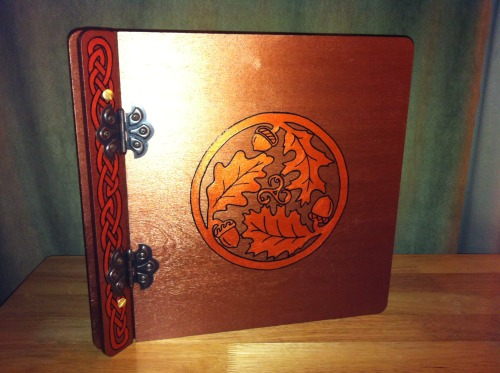"simitu:  ravynsnest:  Custom Book of Shadows completed recently — Antique Copper w/ Copper knotwork and Oak Leaf/Acorn design — Scrapbook size 13"" x 13.5"" RavynsNest.etsy.com  I want everything in your shop! It's all amazing!  Awe, THANK YOU!!  I'm sorry I didn't see this sooner!  Thanks so much for showing love for my things xD"