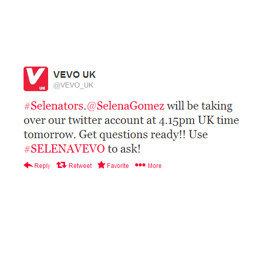 selgomez-news:  Send in your questions using #SELENAVEVO!