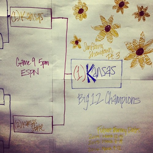 kallicat:  Rock Chalk!!! I love my team! #big12champs #ku #kubball #rcj #foe #ThisIsOurState