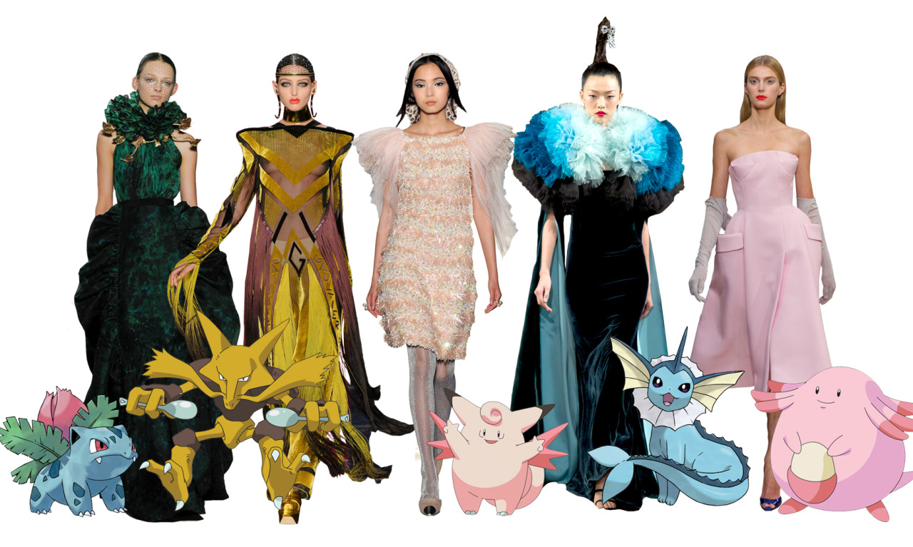 #Pokémon #Couture to define the #ParisCouture Collections…