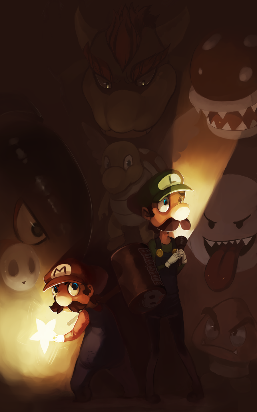 suppermariobroth:  Mario Brothers by *Blood-and-Spice