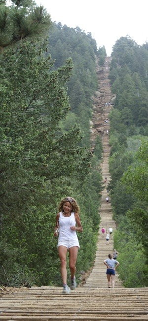 "The Manitou Incline was built as a cable car to carry materials to build pipelines on Pikes Peak. After the pipelines were finished, it was turned into a tourist attraction. A rock slide damaged a section of track in 1990, so the Manitou Incline was closed down and the rails removed. Some locals started using it for a tough workout. Until February 2013, a portion of it was private property and it was illegal to hike up the ties of the old cable car. It is known as one of, if not the most popular, hike in the Colorado Springs area.   This is considered an extreme trail and is an advanced hike! The Incline gains almost 2,000 feet of elevation over less than 1 mile. It's not for the faint of heart, but people from all walks (or climbs) of life have given it a go. It is, perhaps, the most unique and challenging trail in the country, attracting runners, Olympic athletes and cyclists. The trail is also used by military personnel and even soccer moms. More than anything, the Manitou Springs Incline is famous for dishing out a tough workout. ""I can't think of any particular workout, route, or activity that forces you to push your boundaries quite like the Incline does,"" said Cameron Chambers, national mountain bike champion. ""Redlined - that is the only word I can think of when describing the workout the Incline gives you."""