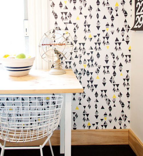 Gorgeous triangle wallpaper from Hygge & West by Lisa Congdon ^^  via Manhattan Nest