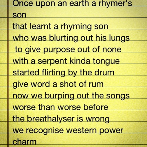 I tried to transcribe a verse… #Tumi #Heavy8 #Lyrics