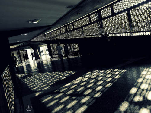 "Entre Luces y Sombras ""2"" by Knelitax on Flickr.Plaza Techada / Universidad Central / Caracas / Venezuela"