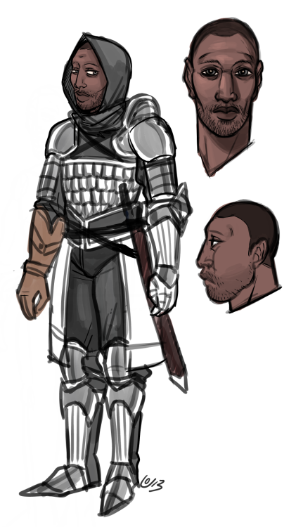 Soldier concept for next month's comic. winky wink