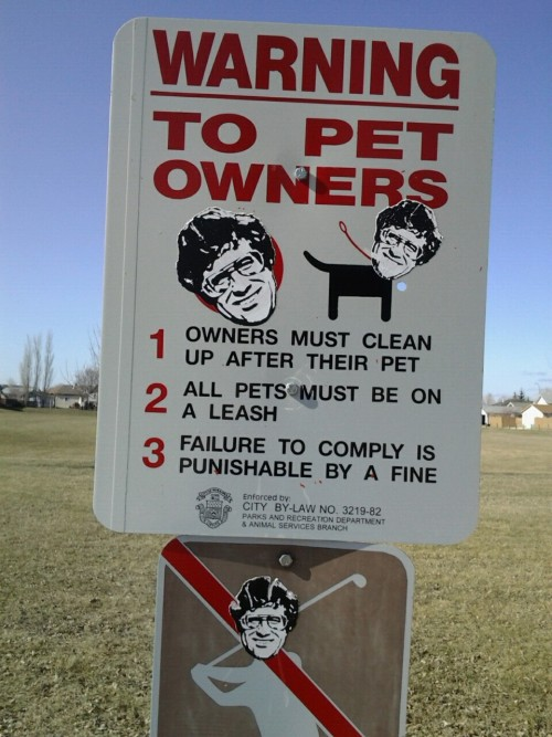 Warning sign at one of the parks near my house.
