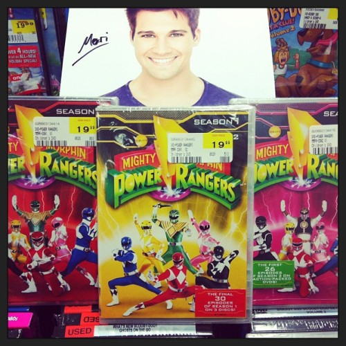 Uh want!! Seasons 1 & 2 on DVD! Go Go Power Rangers! #powerrangers #90skid (look who snuck into the pic! @jamesmaslow!)