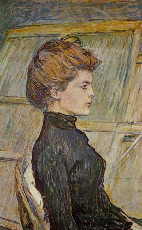 colourthysoul:  Henri de Toulouse-Lautrec - Portrait of Helen (detail) (1888)