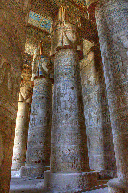 uncommonjones:  Egypt10_0918 by wallacefsk  Temple of Hathor Dendara, Egypt