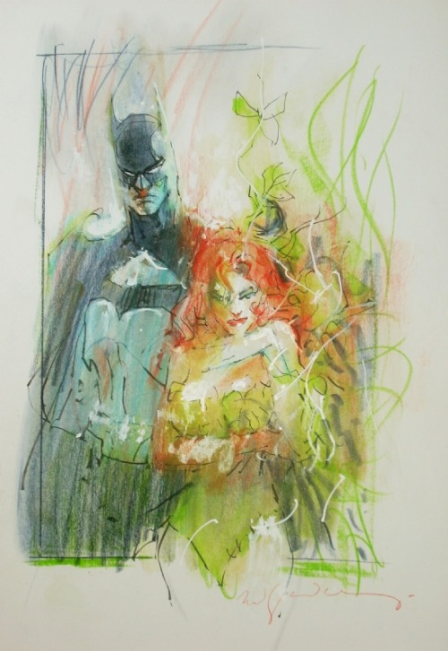Batman, Poison Ivy by Bill Sienkiewicz