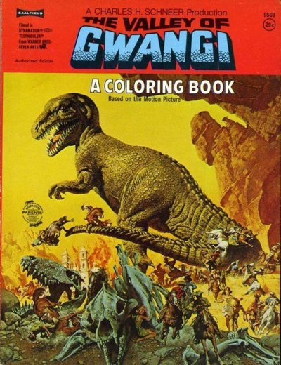 cryptofwrestling:  The Valley Of Gwangi Coloring Book (1969)