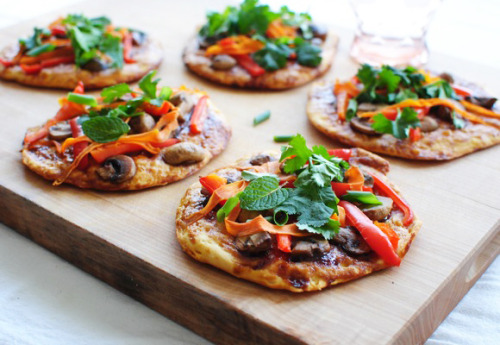 emigetsfit:  veggie asian biscuit pizzas