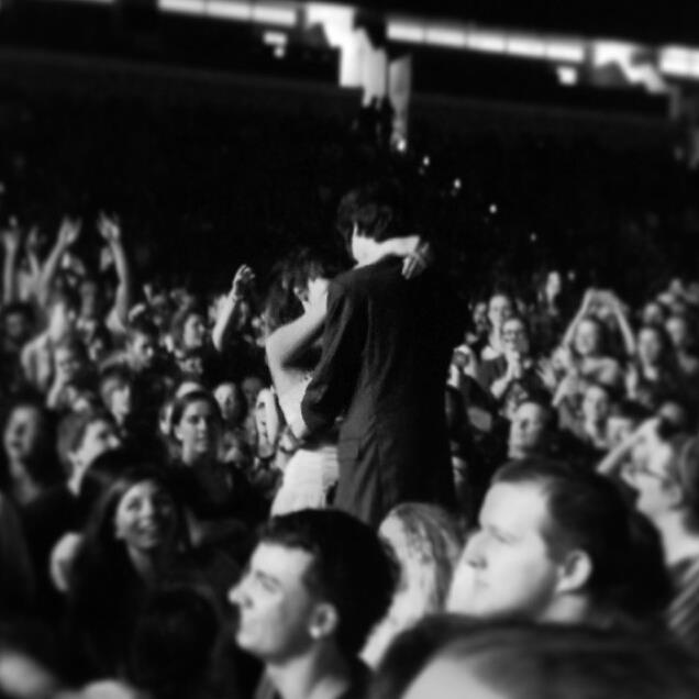 "kellinnquin:  scottylovesyou:  i went to spring fever tour tonight and made the decision to miss prom for it which was the best decision of my life. because of that, me and my friend chloe decided to dress up for the concert as if it were prom and we brought a giant banner that said ""we skipped prom for this"" on it. we specifically decided to crowd surf with the sign first when mayday parade played somebody that i used to know cuz we knew vic fuentes would be on stage with them. derek sanders of mayday parade saw me crowd surfing with the sign and gave a shout out to me for skipping prom after the song, which was awesome! then pierce the veil came onstage and during their acoustic i'm low on gas and you need a jacket, Chloe and i started slow dancing to have our one prom dance. then the people in the crowd around us got a giant section of the pit to sit down while we were dancing so we could be the only ones standing and have our dance together alone! it was the most incredible thing i've ever seen. then we kissed and the crowd around us went crazy. and then vic noticed in the middle of the song and pointed us out in the crowd and said he had never seen anything like it before at any show and he sang the rest of the song to us. then he gave us another shout out and was like ""give it up for that prom couple!"" and for the rest of the night, people came up to us asking if we were ""the prom couple"" and giving us high fives and saying thing like ""fuck prom!"" some people even got pictures with us. when all time low came on, they said that they had heard about the kids who skipped prom which means that ptv talked about us which is awesome! it was the best concert of my life and i know i will never forget it and hopefully the bands will remember it too!  THAT IS THE FUCKING CUTEST THING I'VE EVER READ OH Y GOD"