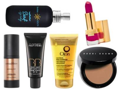 Rachel Martino's must have summer beauty products for the perfect summer glow: http://bit.ly/10M6uVE  MAC BB Cream, $30 Smashbox Artificial Light in Flash, $26 Estee Lauder Pure Color Lipstick in Fuchsia Fever, $25 Smashbox Bronzer Brush, $52 Bumble and Bumble Salt Spray, $25 Ojon Rare Blend Deep Conditioner , $34