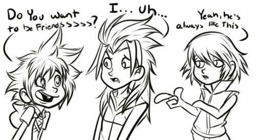 Seriously, Sora would do this Colored version plus bonus drawing http://stungun44.tumblr.com/post/50248498696/colored-version-bonus