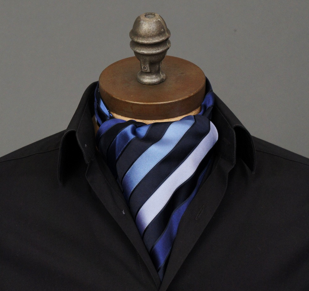 "ascottie:  New Ascot Arrival! Introducing the Brubeck Ascot Tie by Ceravelo. *Note: This ascot is ONE OF A KIND. If you click the link and it displays as ""Temporarily Unavailable,"" it has been sold. However you can request to be notified if/when we create more of this design."