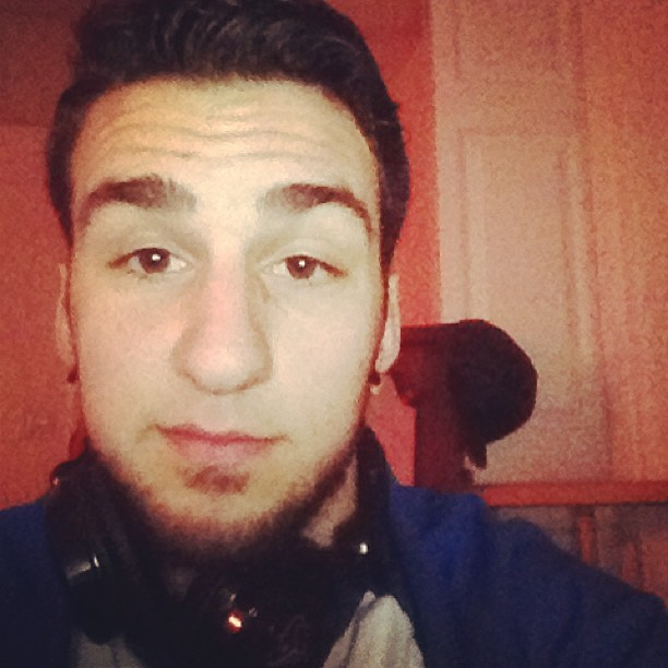 Im gunna just post up #headphones #chillin #follow
