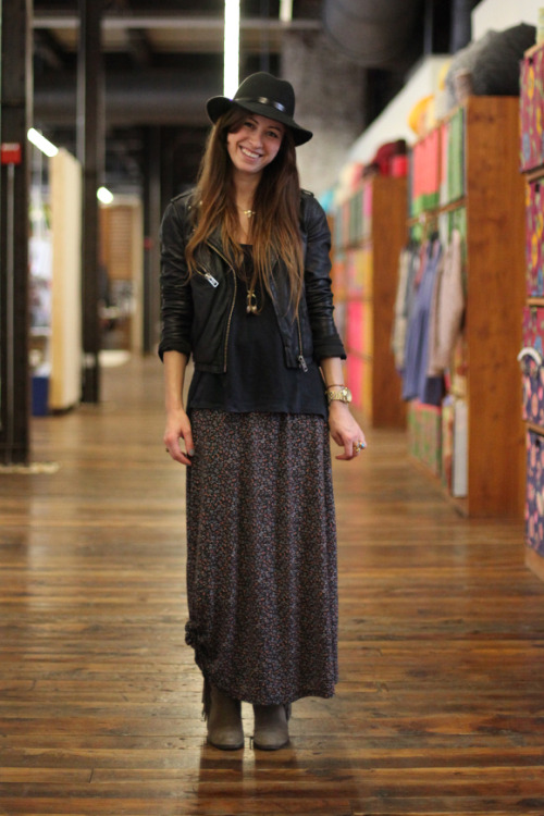 Free People Office Style: wear cozy prints with bohemian touches
