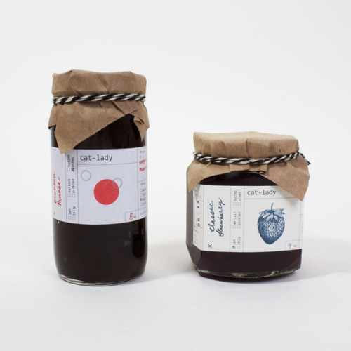 Cat Lady Preserves: Handsomely packaged homemade jams by graphic designer Sumayya Alsenan Kat Herriman, coolhunting.com After quitting her job in 2010, graphic designer Sumayya Alsenan decided to take some time to figure out what she wanted from her next position. In the absence of a daily routine, Alsenan started channeling her energy into the kitchen by cooking f…