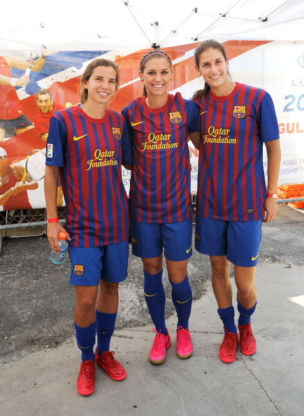 Alex Morgan, Tobin Heath and Yael Averbuch