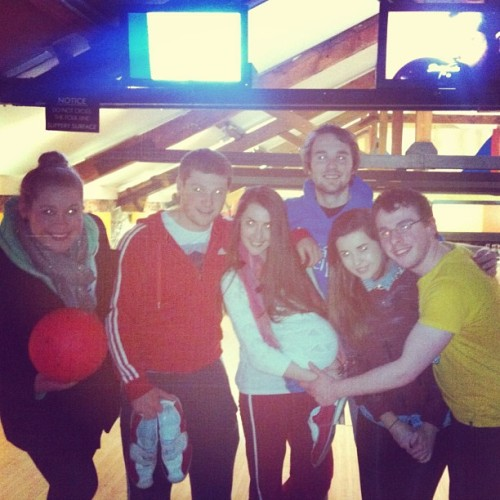 Bowling :) #latepost#bowling#friends#cork#college