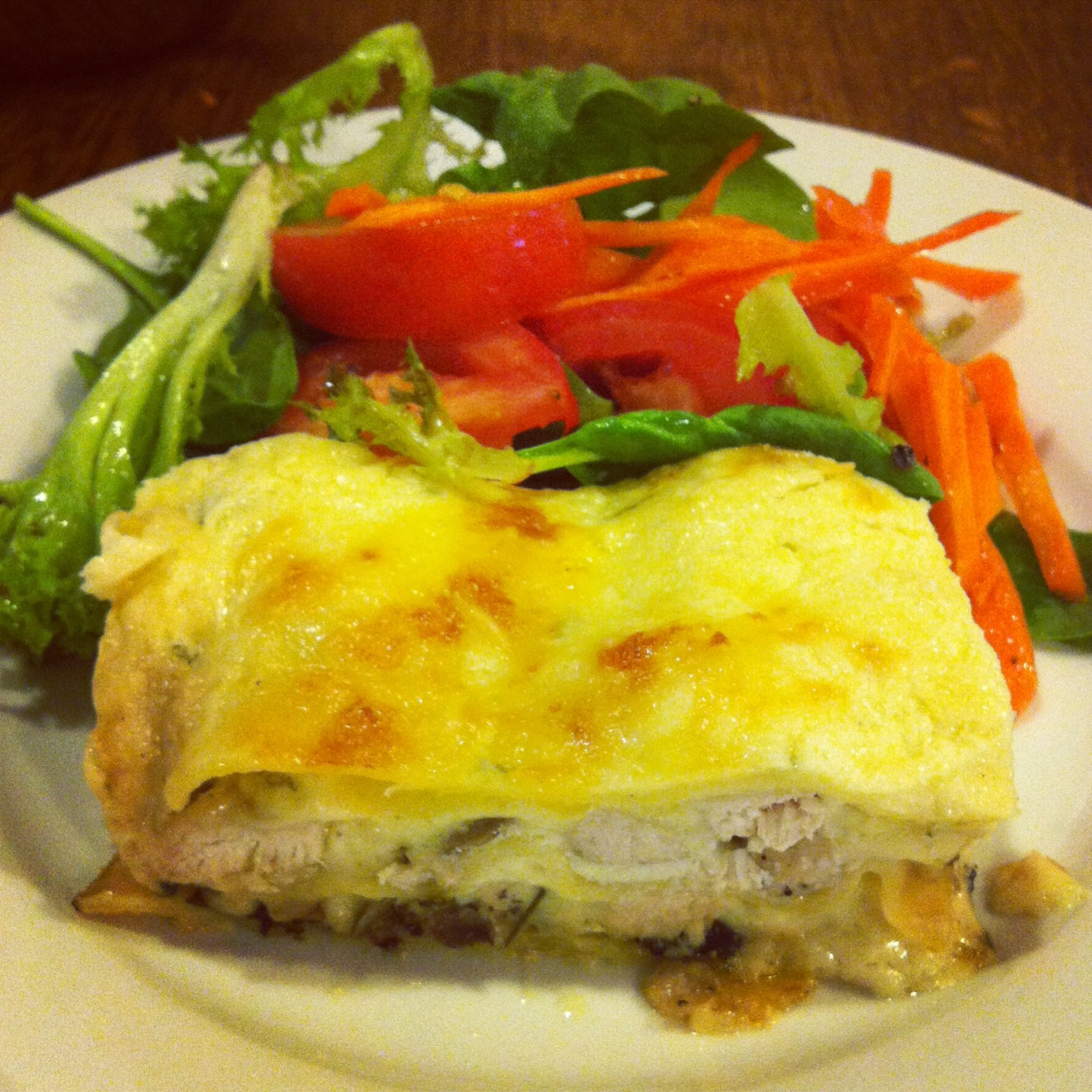 Chicken and rosemary lasagne! Recipe from feastingathome.com