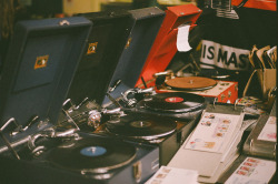 tobecaughtadrift:  Vinyl by Kym Ellis on Flickr.