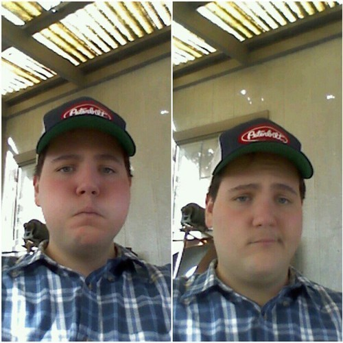 #Me #personal #oxford #Peterbilt #trucker #hat #plaid #default #Facebook which one should I usr?? < Or >