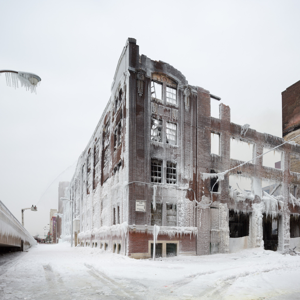 cjwho:  Fire and Ice: The Frozen Aftermath of a Chicago Warehouse Fire