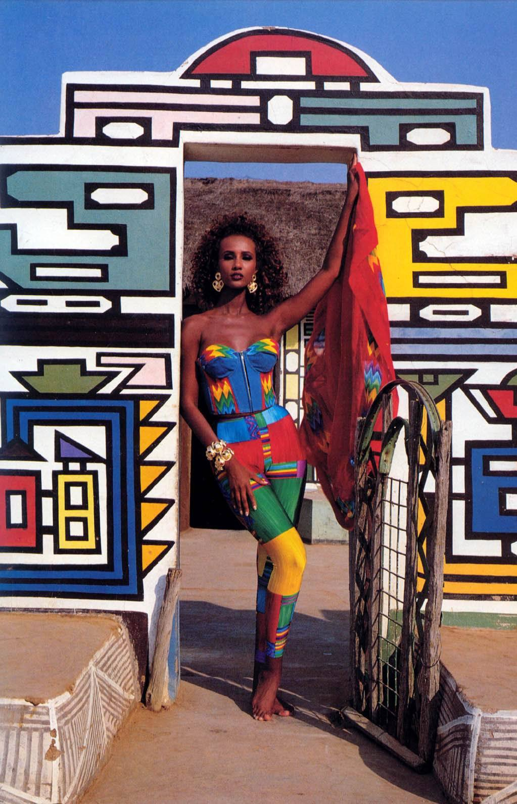 80s-90s-supermodels:  Iman, late 80s