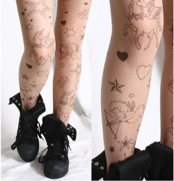 Cupid Unicorn Tights / Moon Shine Apparel on We Heart It - http://weheartit.com/entry/62114640/via/MoonShineApparel   Hearted from: http://moonshineapparel.bigcartel.com/product/cupid-unicorn-tights