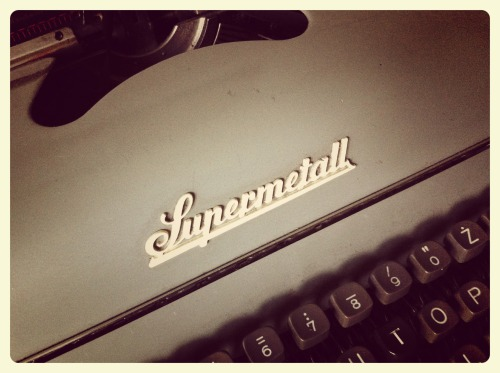 """Hi! Just one post today and with no guitar in it - this is the """"Typewriter of destiny"""" of all metal lyrics writers ;)  Have a nice evening y'all!"""
