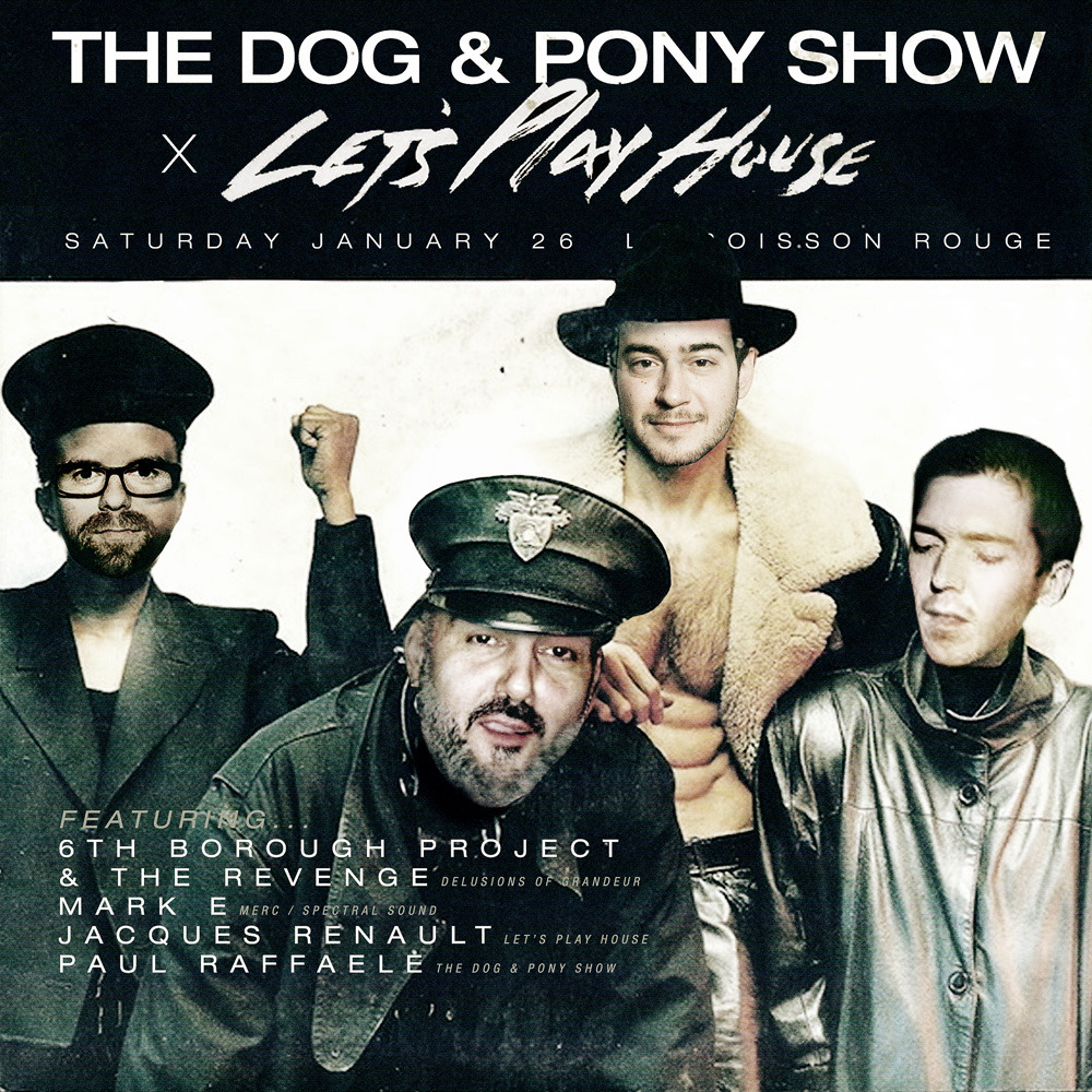 We're shacking up with our buds over at the Dog & Pony Show once again to present you all with another epic lineup. This time we've invited three of our favorite Brits―Mark E, 6th Borough Project, and the Revenge―to come and party it up with us at (le) Poisson Rouge.  Grab your tickets! We'll see you on the floor, NYC!
