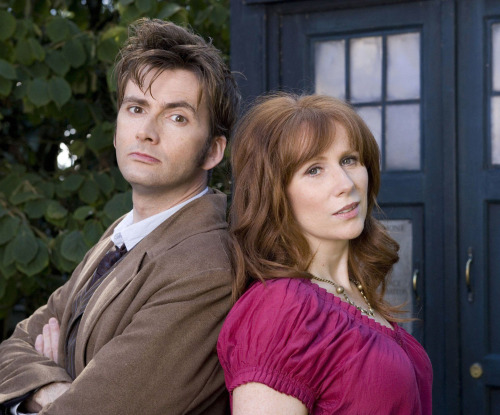 """mizgnomer:  Donna and the Tenth Doctor (Series Four photo shoot) Below is an excerpt from Benjamin Cook's interview with Catherine from DWM #399  Later that day, in the breaks between scenes, Catherine, David Tennant, and various space-suited actors sit around a small table in the green room, playing the card game Switch, while River Song […] tackles the Daily Telegraph crossword. (""""A large barrel? Three letters?"""" she wonders out loud. """"KEG!"""" replies everyone within earshot.) Meanwhile, Catherine plays her Ace of Hearts, prompting David to exclaim, """"Now, why would you want to do that?"""" """"Because I'm going to win,"""" she whoops. """"Get in! One card left!"""" """"is that so?"""" David laughs. """"Just sit still, missy. Sit still"""" Afterwards, David sets the record straight: """"Catherine gets too competitive,"""" he smiles, cheekily. """"It blinds her - blinds her to the tactics. She gets overexcited. She needs to be a bit more cold-blooded. She needs to step back. She needs to breathe. She wasn't winning. She was fighting a losing battle."""" """"Was David claiming that he was the best?"""" chips in Catherine, surveying her co-star with an impish eye. """"Well, he wasn't the best. He's deluded. I was the head of the leaderboard by a mile."""" The score sheet on the wall indicates that she's beating David 13 games to ten. """"Can we step you back on set, please?"""" requests Dan Mumford, the First Assistant Director. Catherine gasps. """"But I'm about to win!"""" """"Sorry, you're needed on set."""" She tries another tack: """"Um… which set?"""" she asks, innocently."""