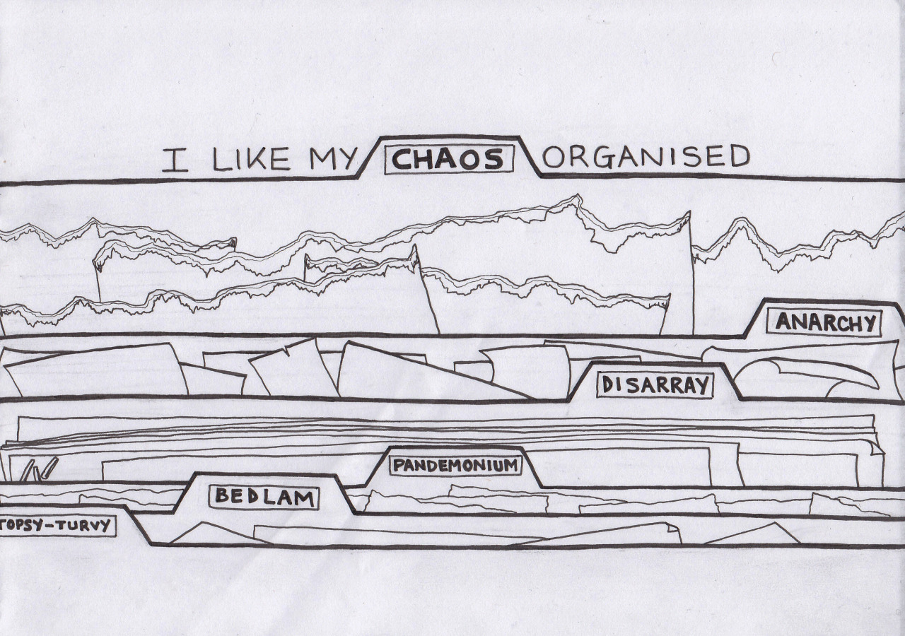 "hitrecord:  ""Organized Chaos""  by Unusual Suspect  == Contribute your Tiny Stories HERE!"