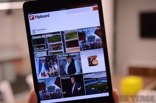 "thisistheverge:  Flipboard 2.0 refreshes app's look, now lets everyone run their own magazine (hands-on) Flipboard announced today that it has 50 million users, and also released a new version of its app that lets everyone become an editor-in-chief. Flipboard 2.0 is ""the most epic release we've ever done,"" CEO Mike McCue told The Verge, and most of its new features focus on curation: users can now ""flip stories,"" in the app or in a browser via a bookmarklet, into their own magazines.   Exciting times. #mywiferocks"
