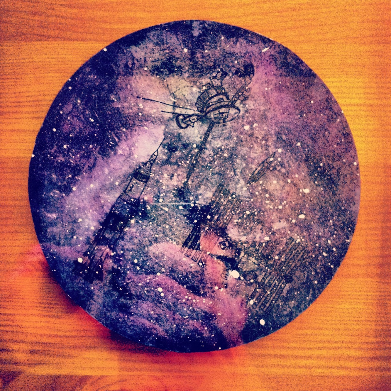 An absolutely beautiful starscape that Little Captain painted for me!