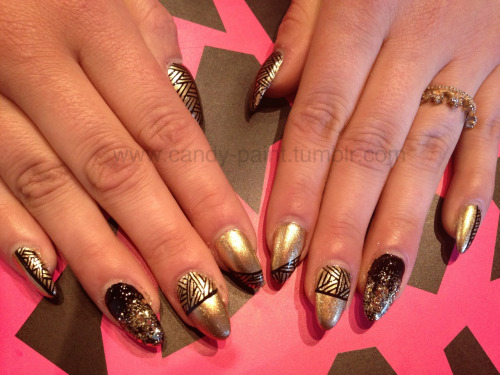 Black & gold gels done today at @crownthequeens!